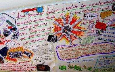 Mural, pósters y escritos